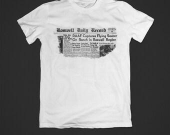 Roswell shirt - UFO shirt - ufo - aliens - conspiracy - area 51 - conspiracy theories - X files shirt - roswell tv show