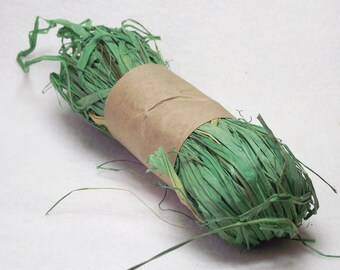 1 oz. Package of Raffia in Lime Green