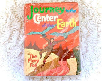 SEALED Journey To Center Of The Earth 1967 Whitman Big Little Book Comic Walt Disney Vintage 60s 1960s Fiery Foe Story Paperback RARE New
