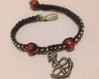 Hemp Bracelet W/Achor and Beads