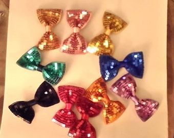 Girls Sequins Hair Bow