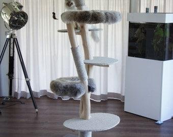 Designkratzbaum Aoshima, natural tree, made in Germany, handmade