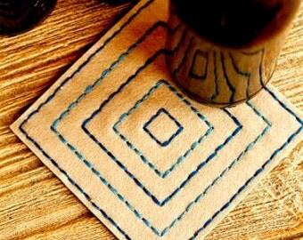 Handmade Coasters, Wool Felt Coasters, Felt Coasters, Drink Coasters