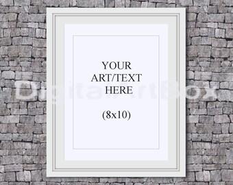 8x10 white framedisplay box 16x20 24x30 framed artposter digital picture frameold black wall backgroundwall artinstant download