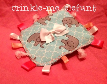 Crinkle-Me Elefunt Baby Crinkle Tag Toy
