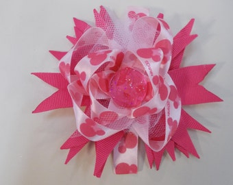 Pink Minnie Mouse hair bow
