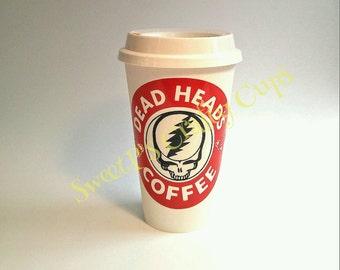 Dead Head's Coffee reusable coffee cup