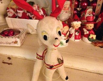 Vintage Stuffed Reindeer