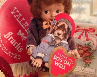 1930's Composition Valentine Doll