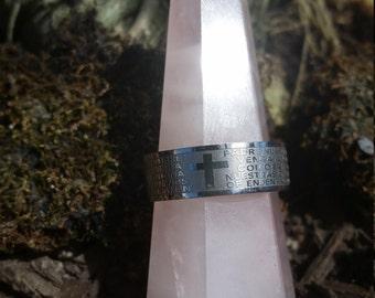 Men's Christian Prayer Ring