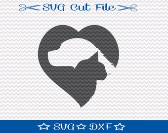 Dog and Cat SVG Cut File /  SVG File for Silhouette / Animal Lover SVG / Dog Svg file / Cat svg file