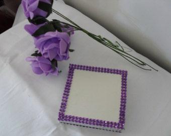 white & purple  drinks coasters