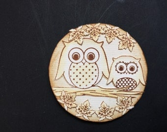 Little owl plaque
