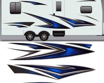 Motorhome graphics etsy for Decals for rv mural