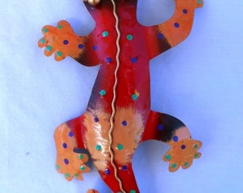 Gecko, Lizard, Iguana, metal sculpture (#geko309)