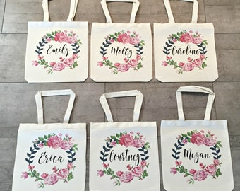 Bridesmaid Totes (set of 6)