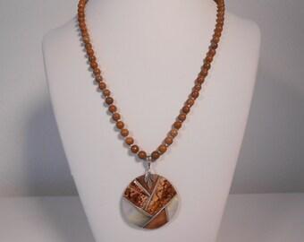 cocoanut shell pendant