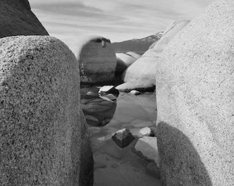 BW Tahoe rocks