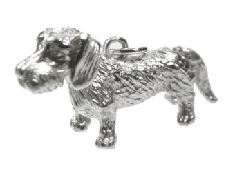 Pendant Dachshund Silver 925 wire-haired Dachshund dog dogs pendant silver
