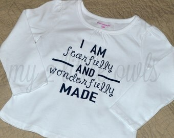 kids - I am fearfully and wonderfully made shirt