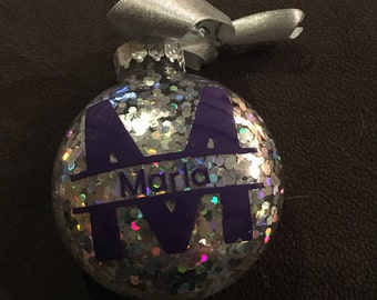 Personalized Inital Christmas Ornament