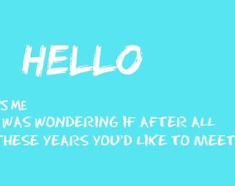 hello adele quote