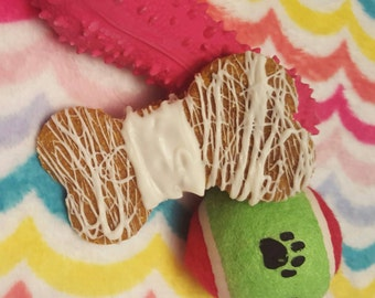 Peanut Butter Decorated XL Dog Bones