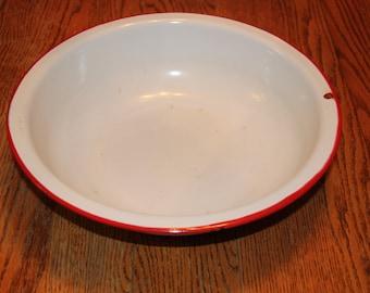 Vintage Enamelware bowl,  antique, home decor, farm and home,