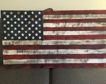 American flag Reclaimed Pallet Wood Sign