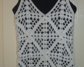 Crochet Tank Top/ Bathing Suit Cover Up