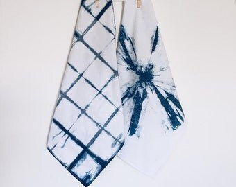 Shibori Cotton Tea Towels - Set of 2