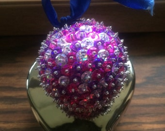 Purple Sequin Ornament