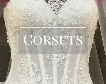 Corset Wedding Dress Bridal Gown- Corset Wedding Gown Wedding Dress Corset Bustier Wedding Dress Boned Wedding Gown  Bridal Dress