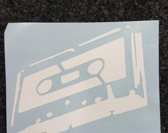 Vinyl cassette tape decal