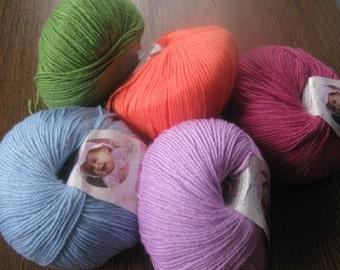 Baby Yarn, baby wool, hypoallergenic yarn, Alize yarn, wool yarn, antibacterial yarn, wool, bamboo, acrilyc yarn