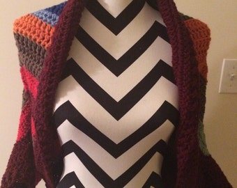 Crochet Shrug Multi-color