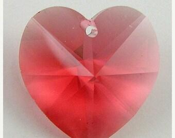 40% CLEARANCE 18mm Swarovski crystal heart pendant 6202 padparadscha 2718