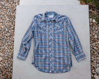 Vintage Men's Plaid Long sleeve