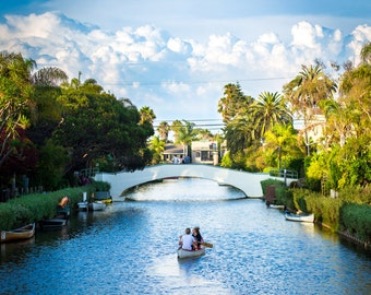 Venice Canals Photo Print || Wall Art || Color Venice Photography || Photography Gift || Venice California || Southern California Attraction