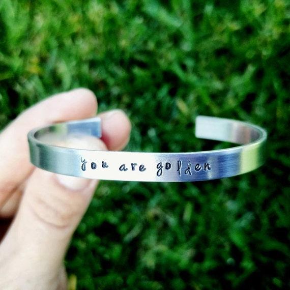 Cuff bracelet, Minimalist cuff,  quote cuff bracelet, hand stamped cuff bracelet, Personalized cuff bracelet