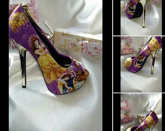 beauty and the beast inspired shoes