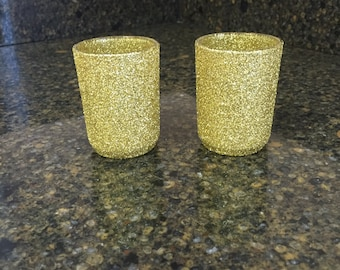 Set of 8 Glitter Votives