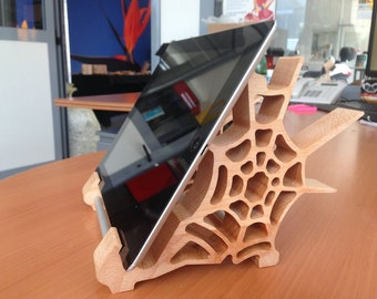 Support for Ipad Mod SPIDER/IPad Stand/wooden Ipad Stand/Stand Ipad/Ipad dock/gift ideas/Gift/Handmade/Wood Ipad stand