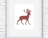 Winter Deer Printable Art...