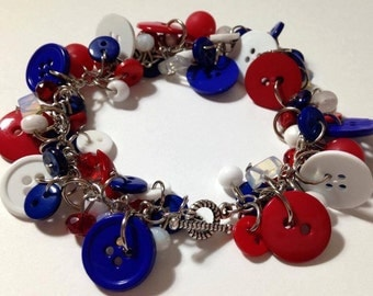 Red, White, & Blue Bracelet