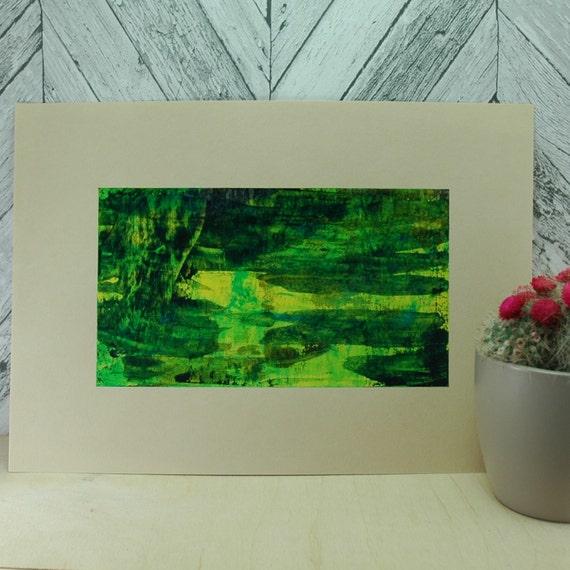 Small abstract art green wall art first apartment gift gift for Gifts for first apartment
