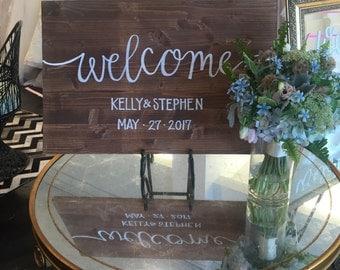 Wedding sign / custom wood wedding sign