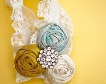Bridal Garter Wedding Garter Vintage Stretch Lace Garter Rhinestone Crystal Jewel
