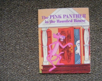 The Pink Panther in the Haunted House, Vintage Golden Book, 1975, Kennon Graham