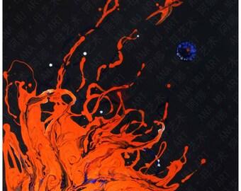 Phoenix Rising--Painting, Oil,Acrylic,Contemporary art,modern art ,original art  by artist Ana Mu